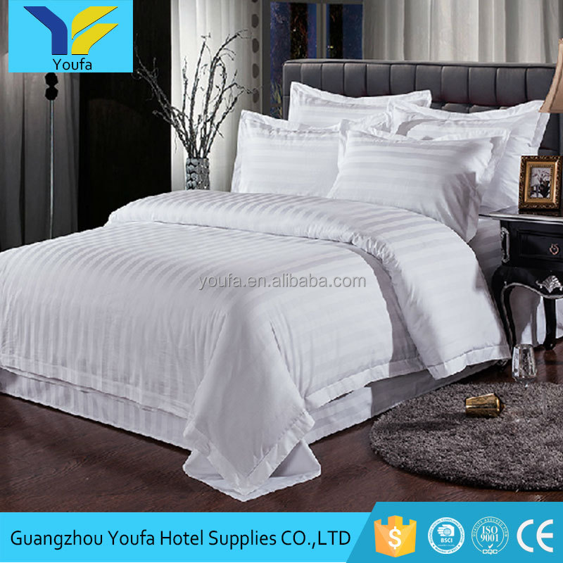 China supplier factory price 5 star plain cotton 4 pcs hospital hotel bed linen luxury bedding set for wholesale