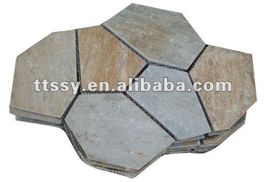 grey thin flagstone slate tiles