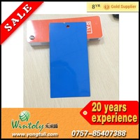 Glossy smooth blue outdoor powder coat