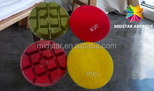 top quality 3000 grit concrete magic sticky floor pads from China