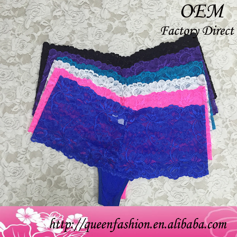 In stock S-XL small big size womens lace panty lingerie wholesale