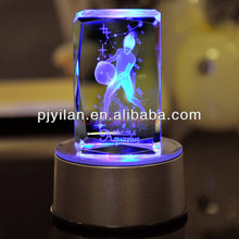 LED nice crystal 3d laser picture cube 3d laser etched led cube rgb 10x10x10