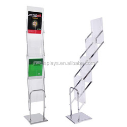 Literature Stand A4 Trade Show Foldable Acrylic Brochure Holder