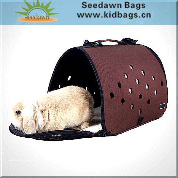 Handle Shoulder Sling Holes EVA Pet Dog Carrier Cage Bag with Lambskin Velvet Mat for Puppy Cat Small Animal