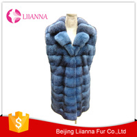 Top quality 100% real mink fur long vest L007