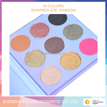 OEM 9color shimmer Eyeshadow Private Label Eyeshadow Palette 9 Colors shimmer Eyeshadow Palette
