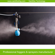 Air atomizating mini fogger for cooling, humidification