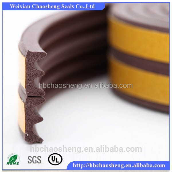 High Quality Self-Adhesive E Type Rubber Door Seal Strip