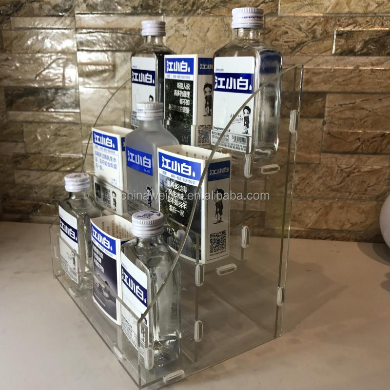 Acrylic White Spirit Bottle Display Stand
