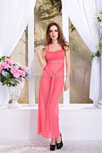YIBIAO Newest Wholesale Midnight Lace Pink Temptation Sexy Ling Sexy Long Gown And Sexy Dress