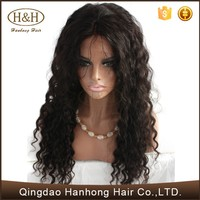 Natural hairline Afro kinky curly human hair wigs fluffy and elegant wig in stock