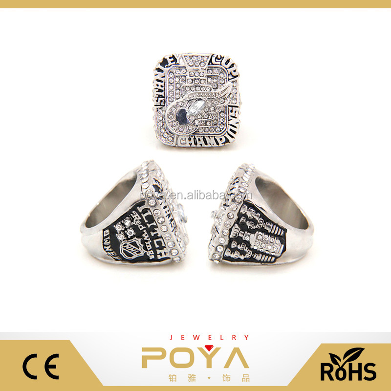 POYA Jewelry Replica Hockey Championship Ring,Make Your Logo World Series Championship Ring, Hockey Fan Ring