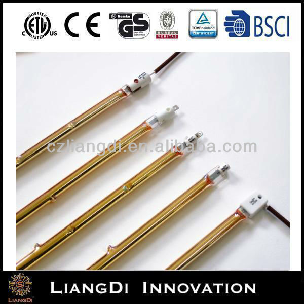 saving energy! electric water heater tube gold coated infrared heating halogen lamp