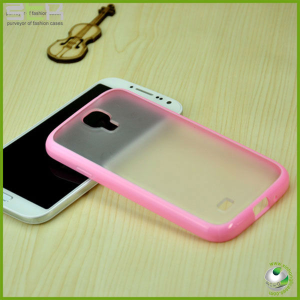 For samsung galaxy s4 hard transparent case cover