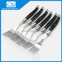 6PCs color stainless steel flatware plastic handle fork