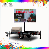 Top sale Outdoor advertising mobile trailer/vehicle/van/truck electronic mounted led display