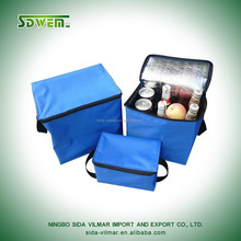 600D polyester lunch and wine insulated cooler bag