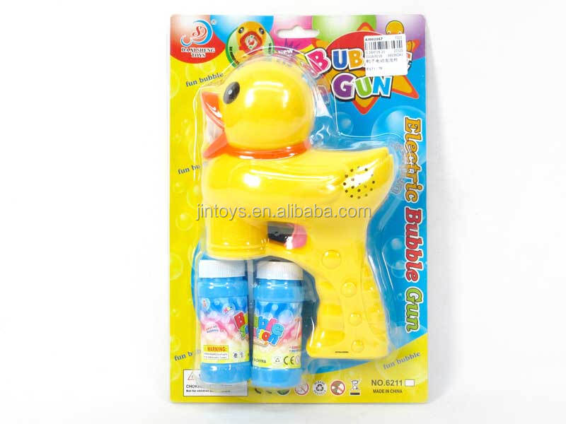 Children toys duck wholesale electric bubble gun, battery operated bubble toy for wholesale, AJ002167