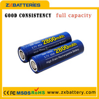 Wholesale Rechargeable Strong Light High Capacity Small 18650 li ion battery ZX Wholesale Batteries