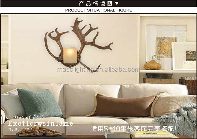Retro Nordic Polyresin wall lamp for indutstrial style zone resturant hotel Home vintage designed creative vintage wall light