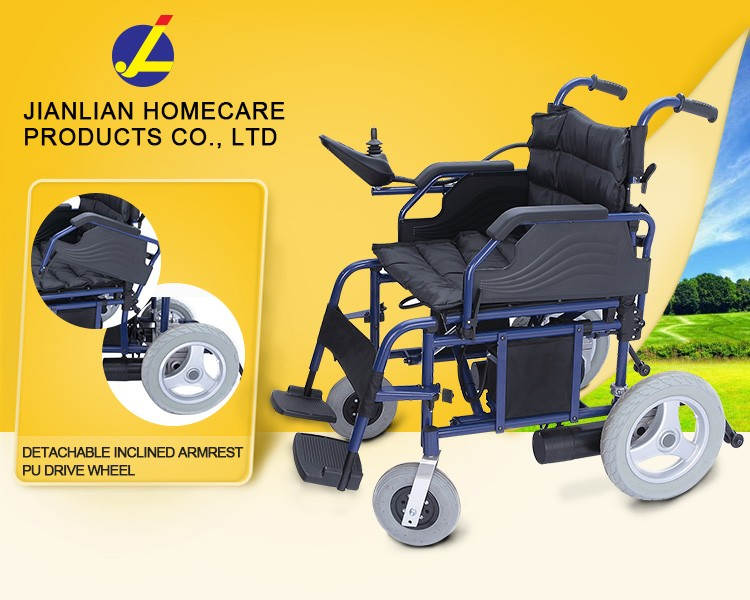 JL stainless steel electric wheelchair for disabled people JL138-46(JL138-51)