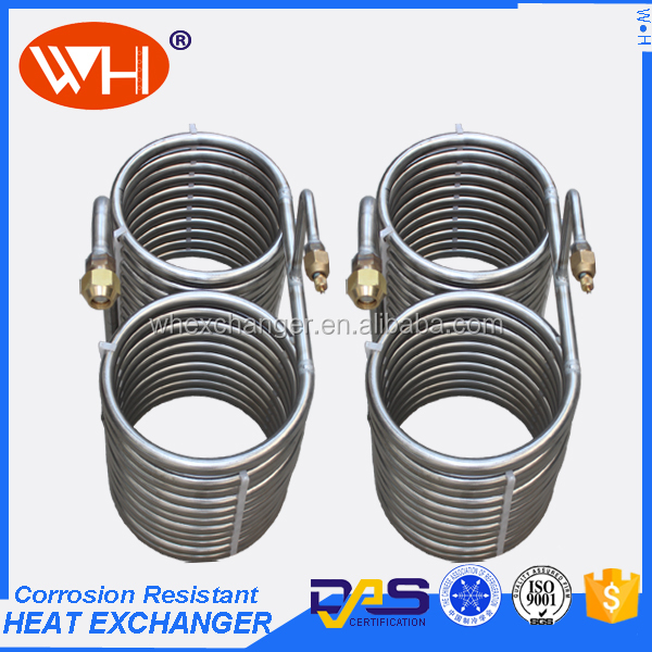 ISO approved cooling coil pipe home brew counterflow coil heat exchanger