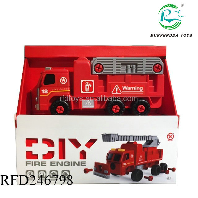 Most popular educational assembly toys with music b o diy truck