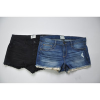 Stock sexy jeans shorts woman lace short jeans cheap price