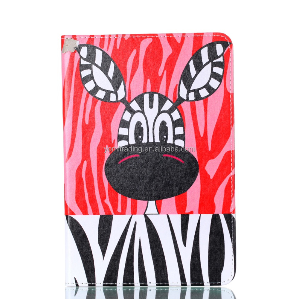 Cartoon leather case colorful bufferfly flower flip cover For IPAD mini 5