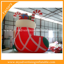 New hot selling large size christmas ,fun Christmas inflatable stocking