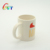 Custom prinitng office christmas ceramic coffee cup with handle