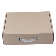 Durable fruit corrugated cardboard suitcase box with handle