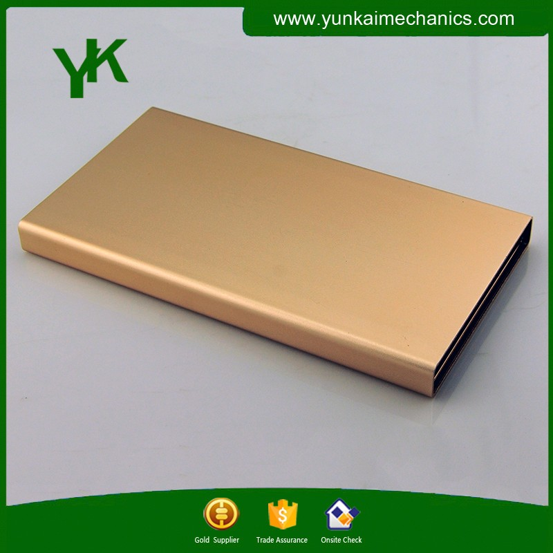CNC punching gold anodized aluminum motor shell profile