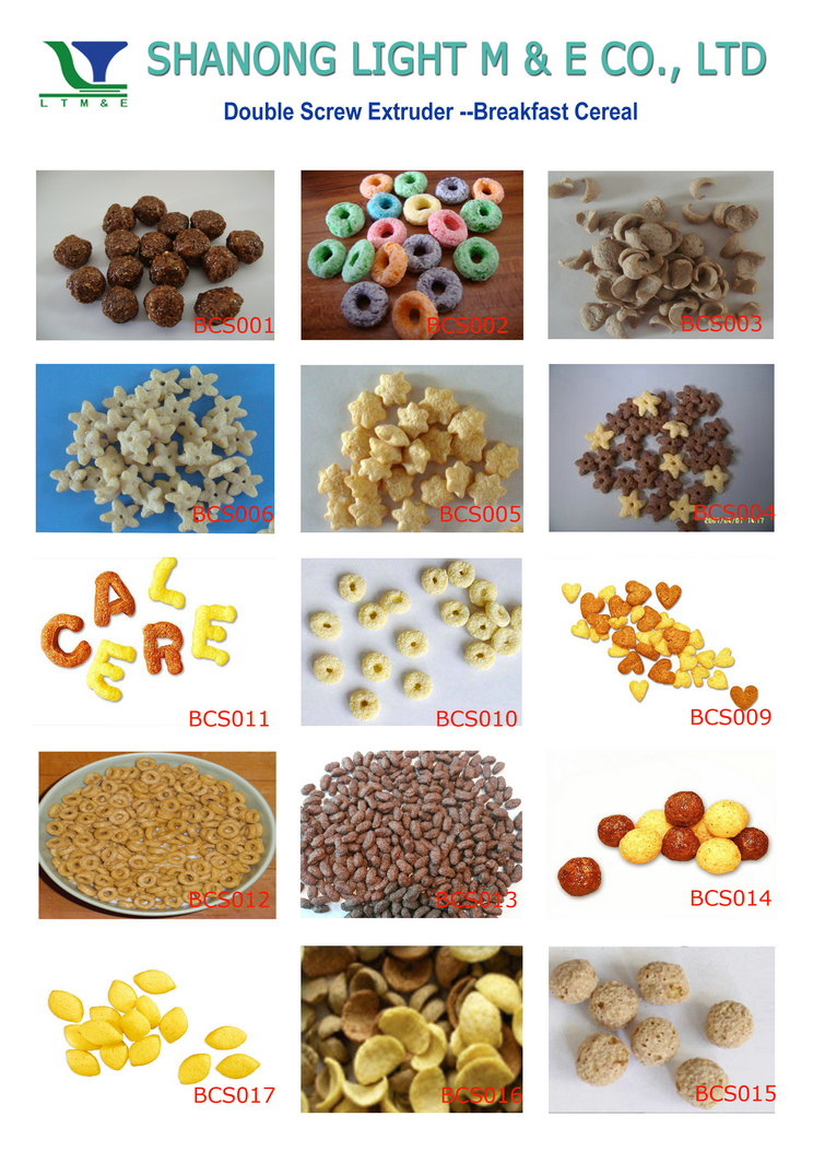 Corn Flakes Breakfast Cereal Production Line/cooked corn flakes machine