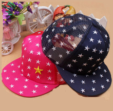 Spring& summer children fashion stars embroidery baby hat snapback cap trucker hat