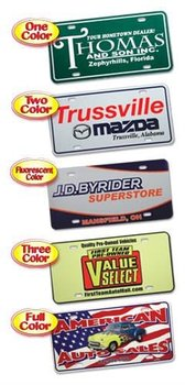 pvc plastic car dealerships license plates