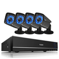 4 cameras 960P POE Security system 36 pcs IR LEDs IR distance 30 meters working day and night outdoor and indoor use