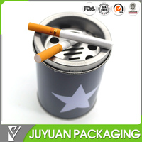 cylinder metal tin cigarette box can be metal ashtray
