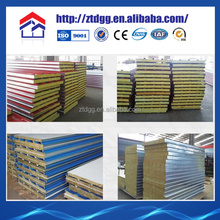 Cheap price rock wool roof sandwich panel Used to build house, Professional manufacturers provide sandwich panel p