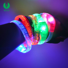 Hot Selling TPU Motion Sensor Light Up Led Wristband for Event