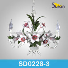 Home decoration with 3-light pure handemade for maria theresa chandelier