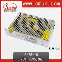 110V/220VAC to 75W 15V 5A Tattoo Power Supply DC Output For LED