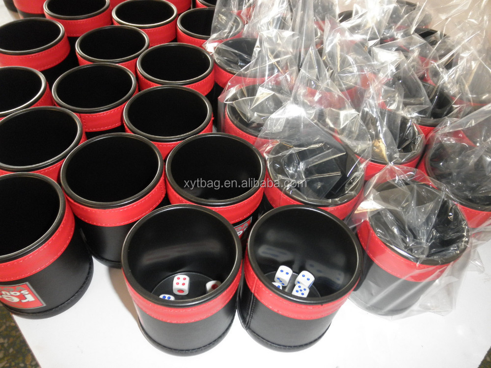 Custom color printed game dice cup from China