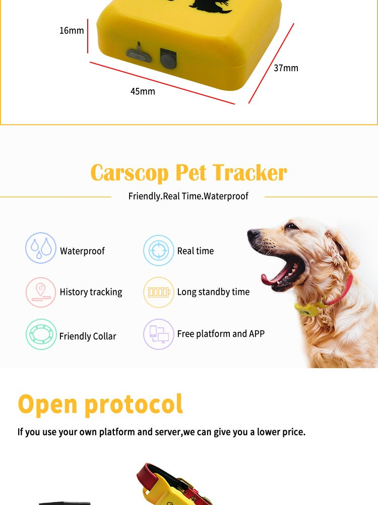 GSM Waterproof Smallest Small gps Dog tracker collar Mini Size Micro Pet Gps tracker for cat dog tracking device