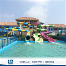 High Quality Fiberglass Water Slide Tube For sales, Aqua Park Spiral Slide