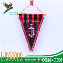 Custom sports match fans mini Pennant soccer flags