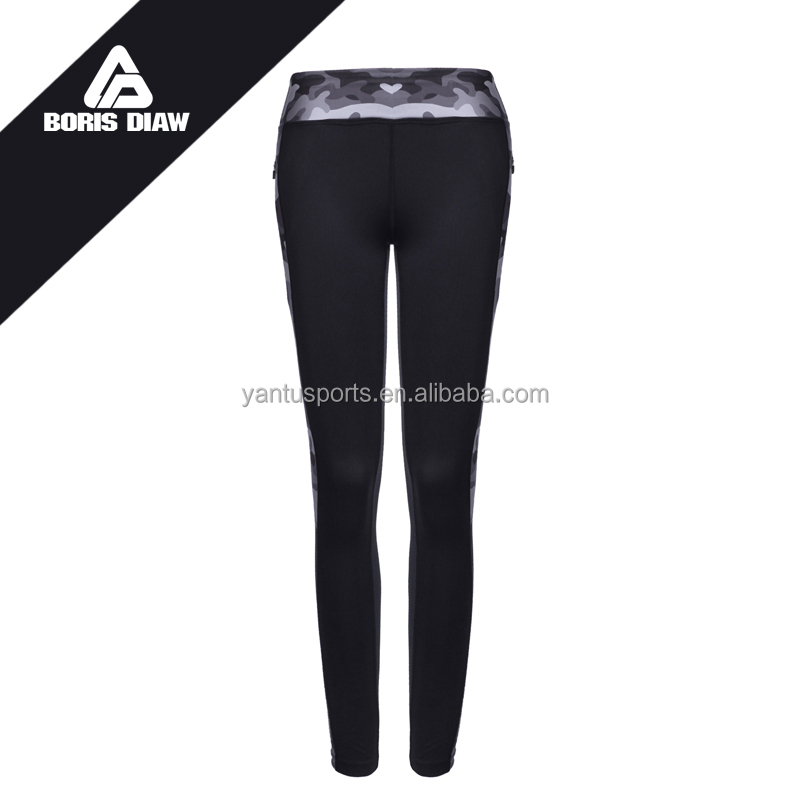 Sublimation compression Leggings Women Sexy Yoga Pants with pocket