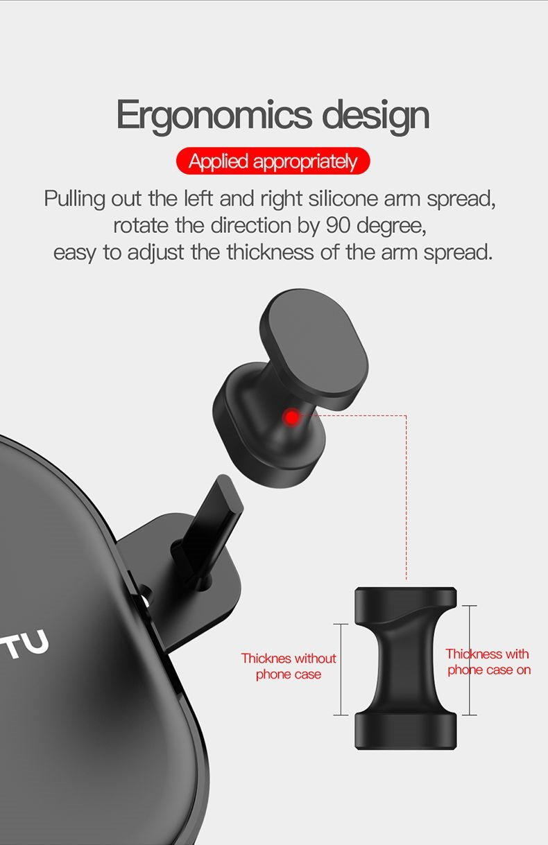 TOTU PC+Silicone Gravtivity Phone Holder Car Triangle Stably For Iphone Car Holder For Samsung Note 9/Huawei Mate 20 pro