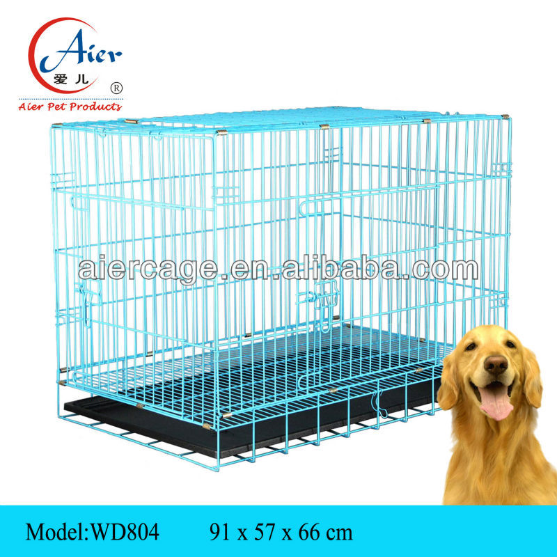 WD804 medium dog kennel metal dog tray
