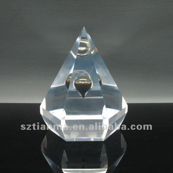 Clear Resin Embedment Oil Drop Crafts For Oil Company Souvenir